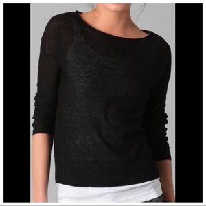 VINCE Lightweight Pullover Linen Sweater